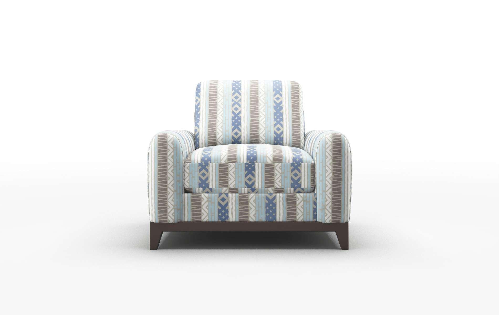 Mykonos Bodhi Indigo Chair espresso legs 1