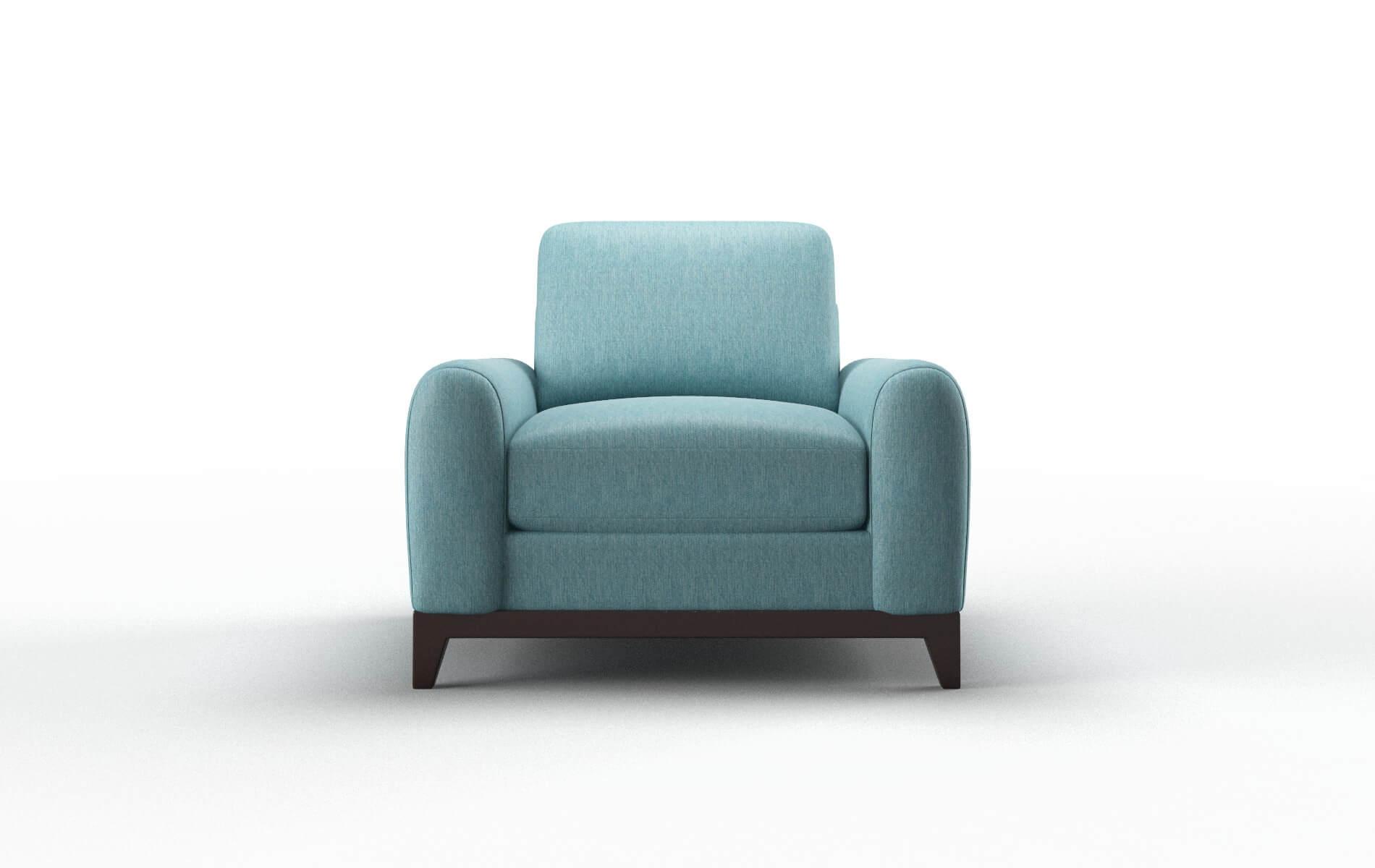 Mykonos Cosmo Turquoise Chair espresso legs 1