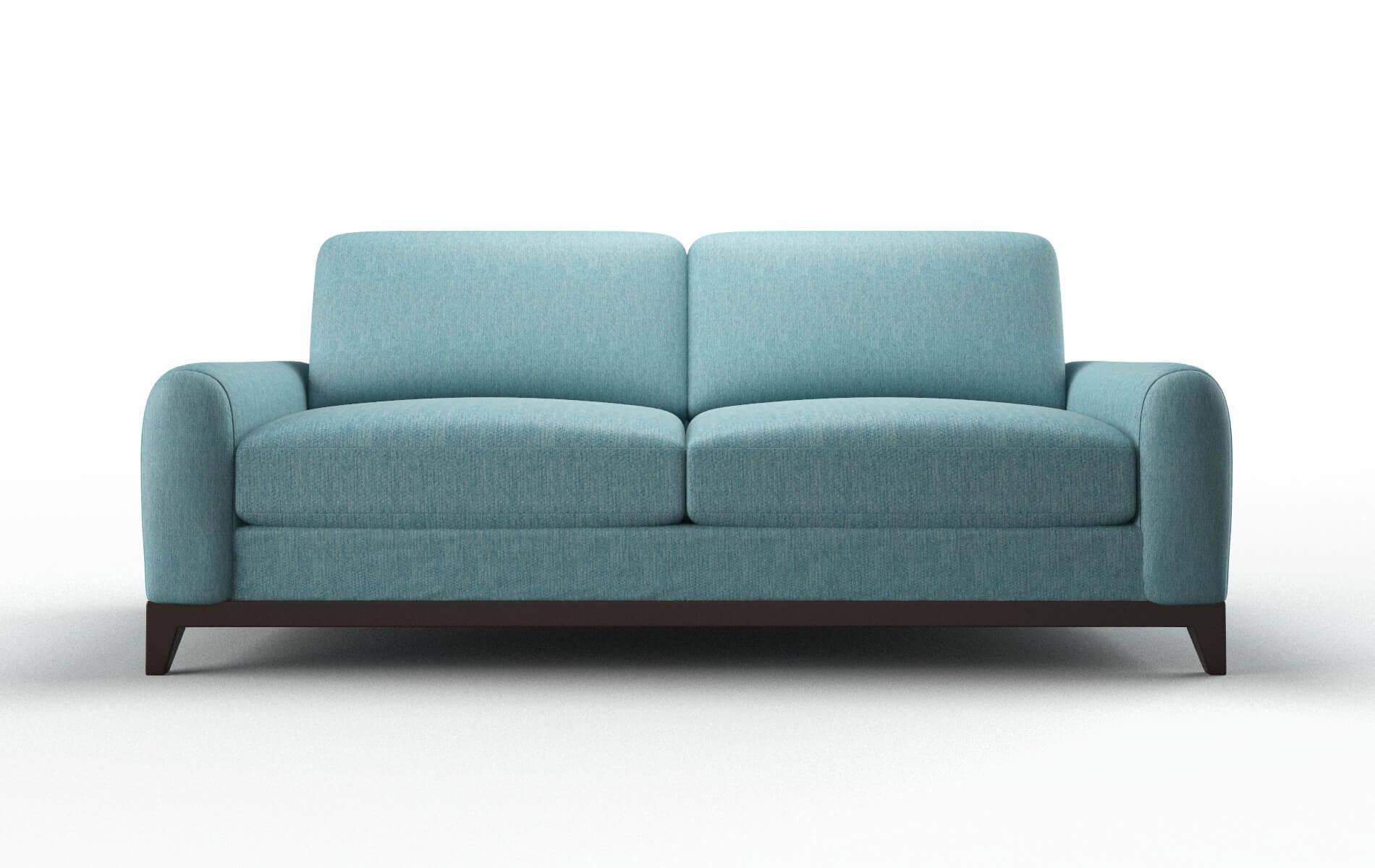 Mykonos Cosmo Turquoise Sofa espresso legs 1