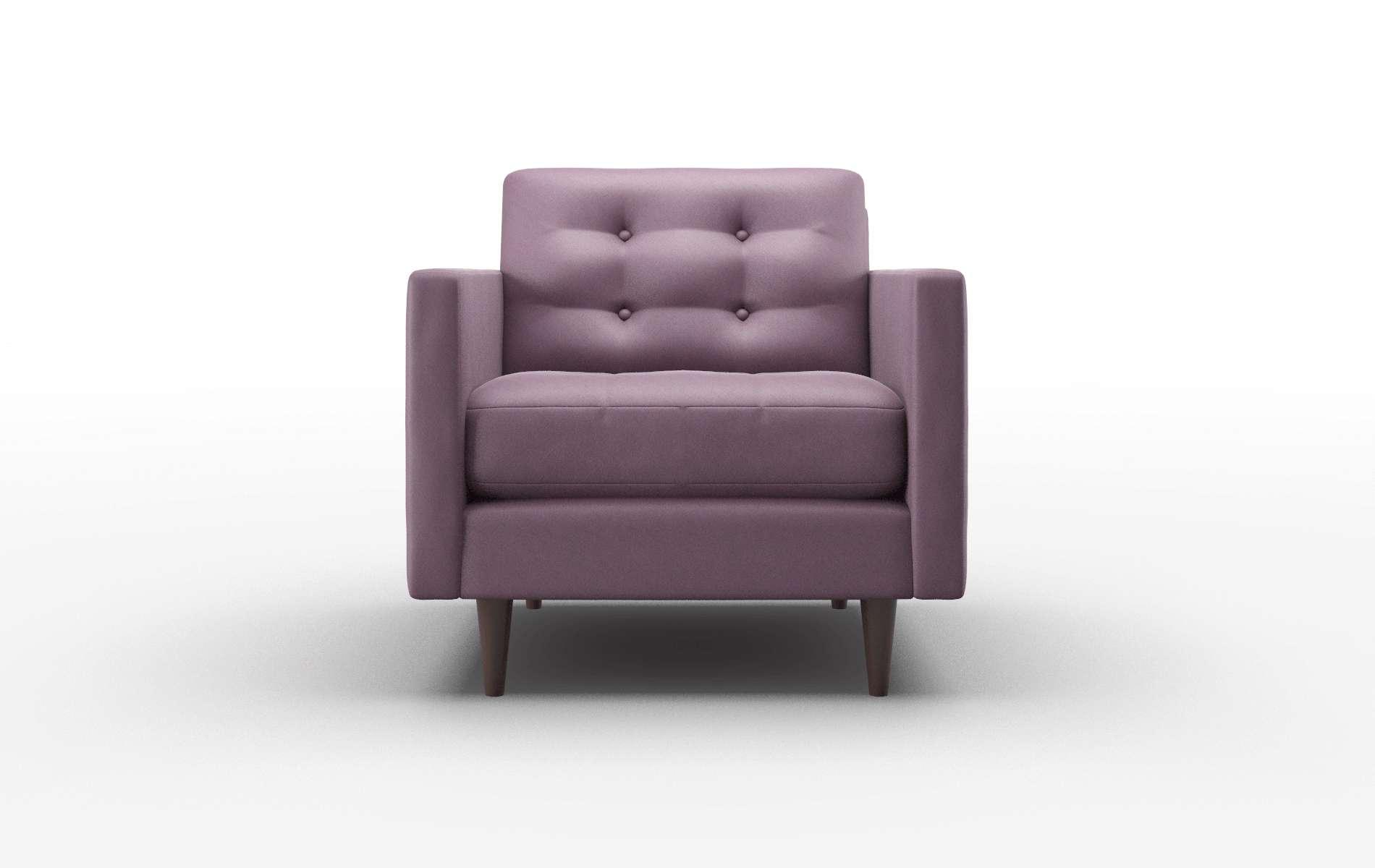 Oslo Bella Aubergine Chair espresso legs 1