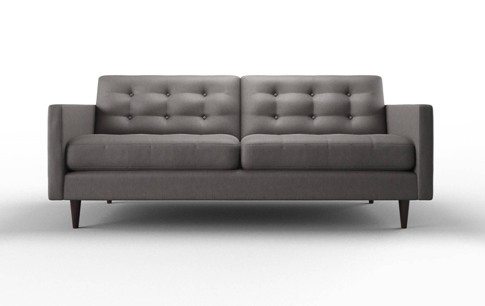 Oslo Cosmo Charcoal Sofa espresso legs 1