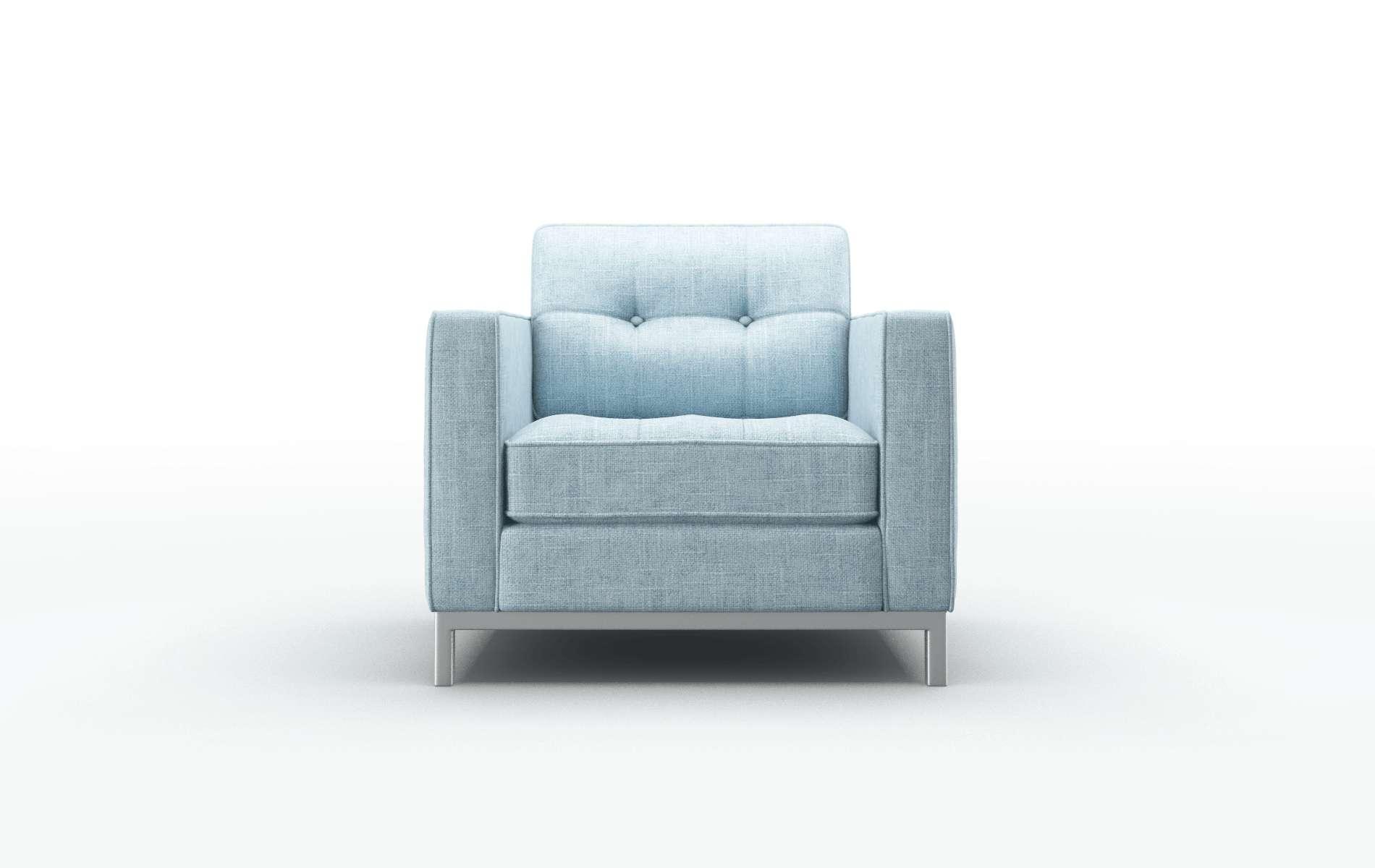 Oxford Atlas Turquoise Chair metal legs 1