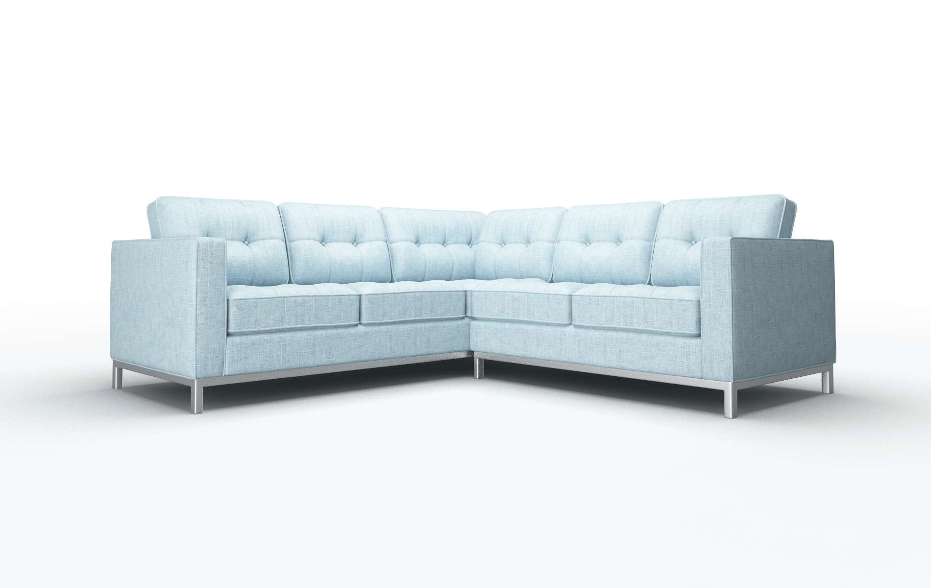 Oxford Atlas Turquoise Sectional metal legs 1