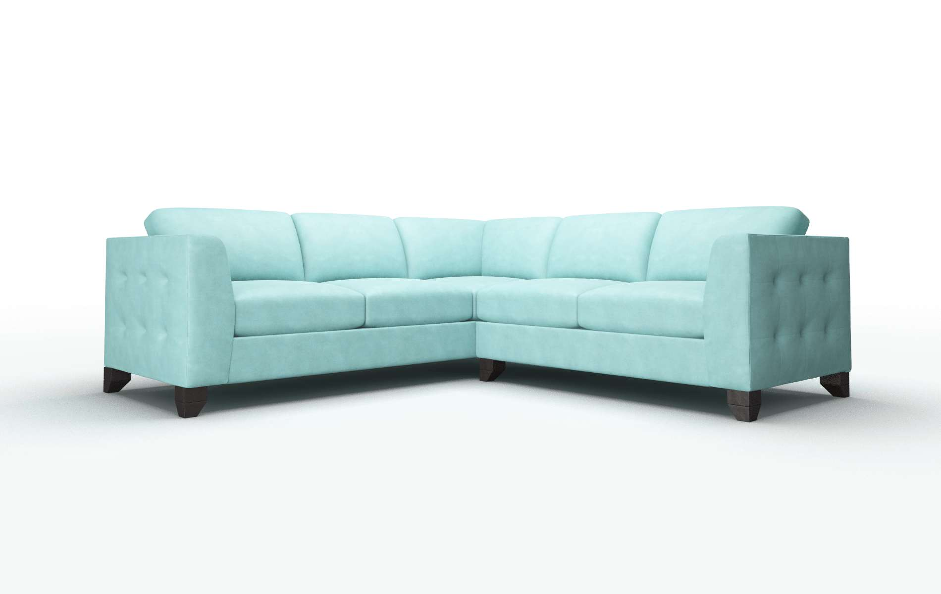 Paris Bella Caribbean Sectional espresso legs 1