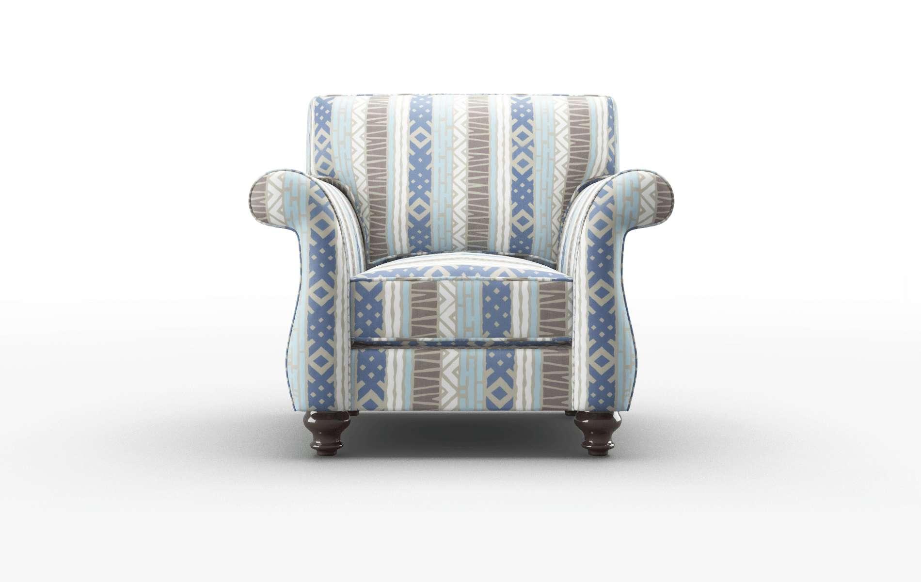Pisa Bodhi Indigo Chair espresso legs 1