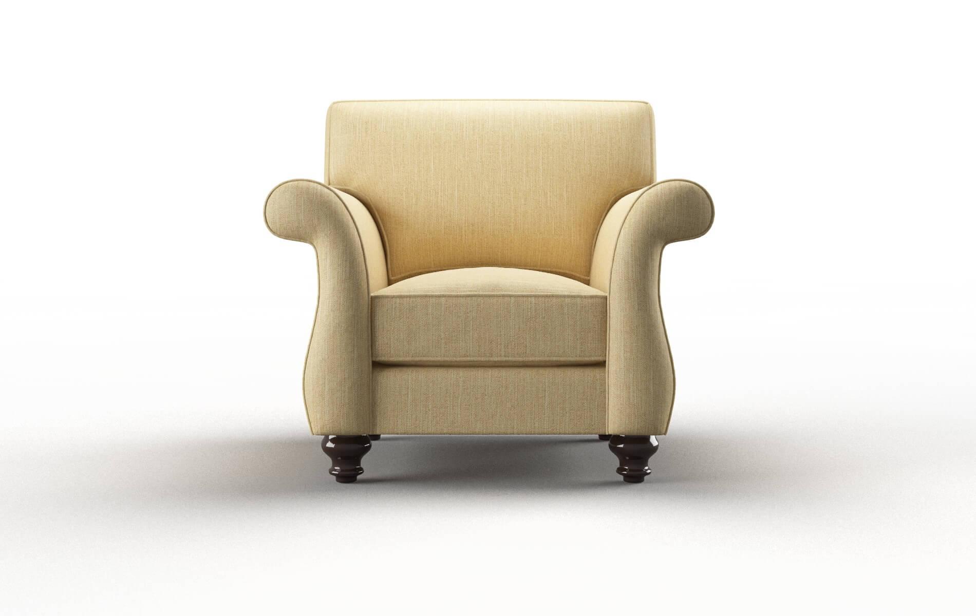 Pisa Malibu Maize Chair espresso legs 1