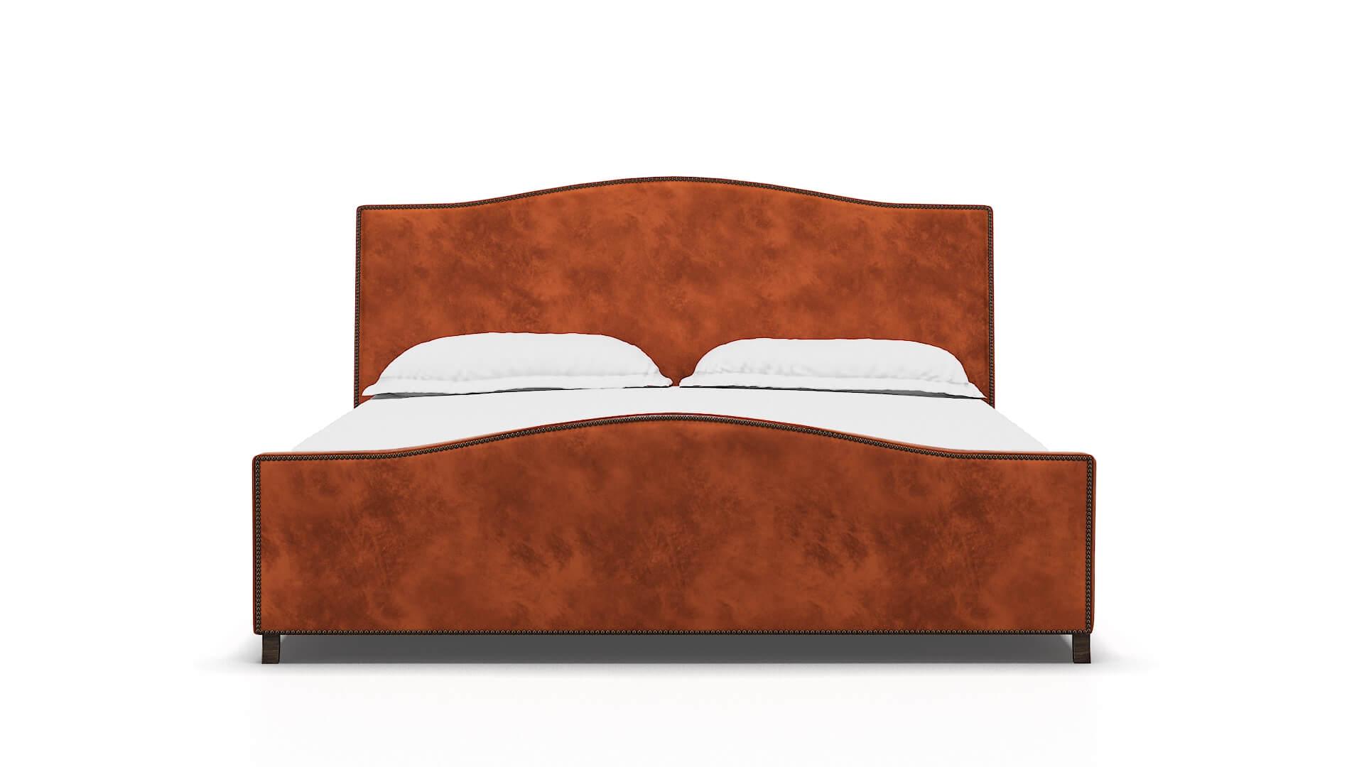 Prato Loft Copper Bed King espresso legs 1