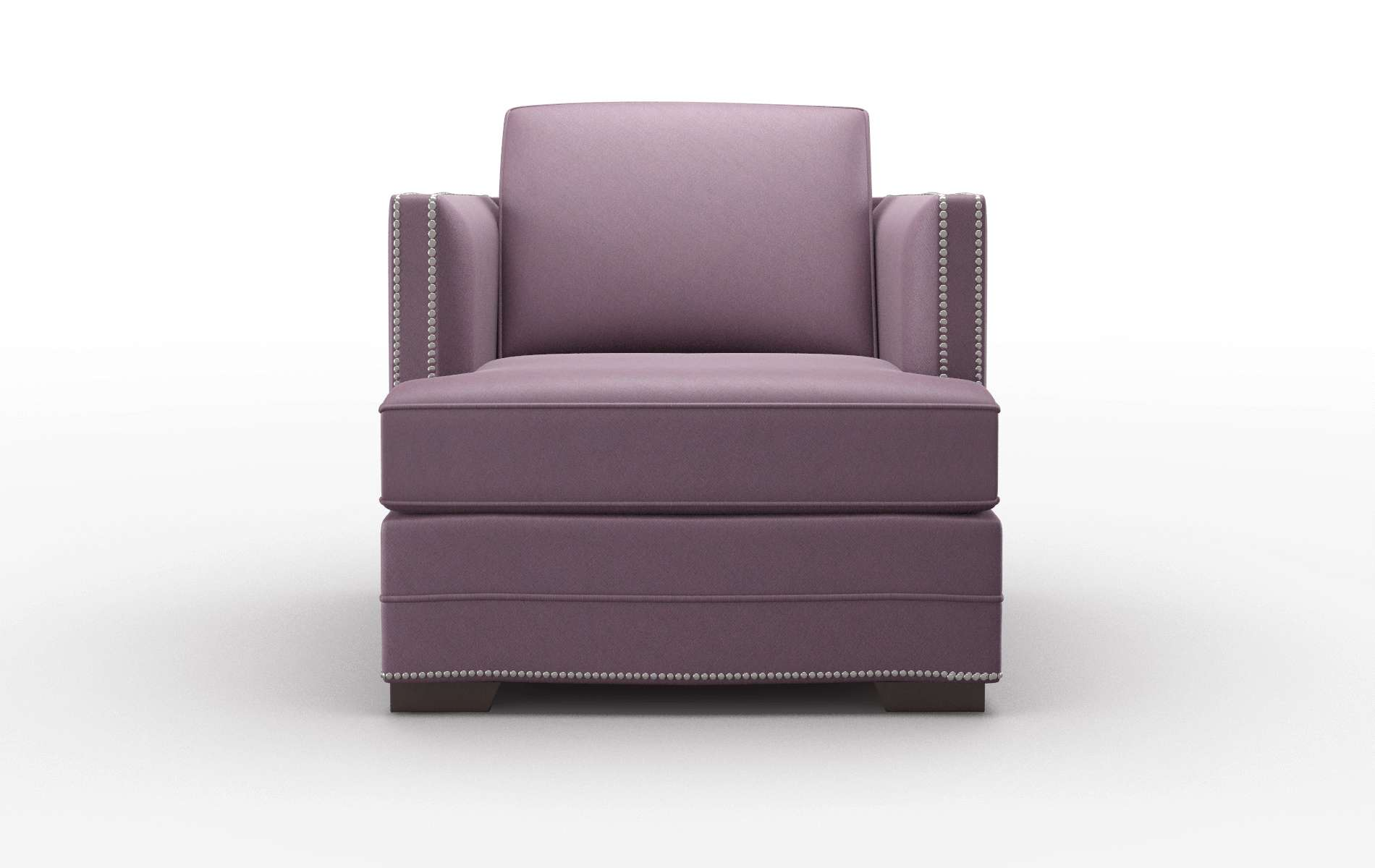Riga Bella Aubergine Chair espresso legs 1
