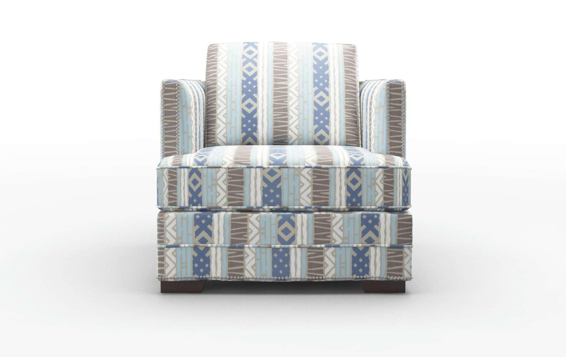 Riga Bodhi Indigo Chair espresso legs 1