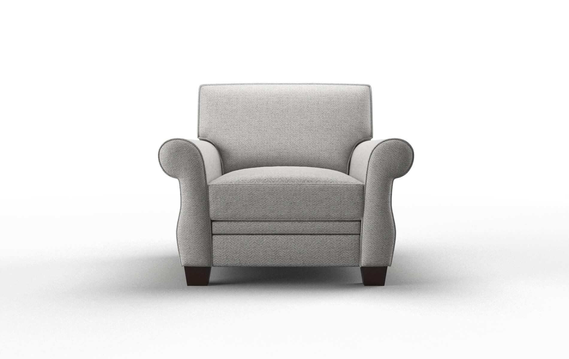 Rome Catalina Silver Chair espresso legs 1