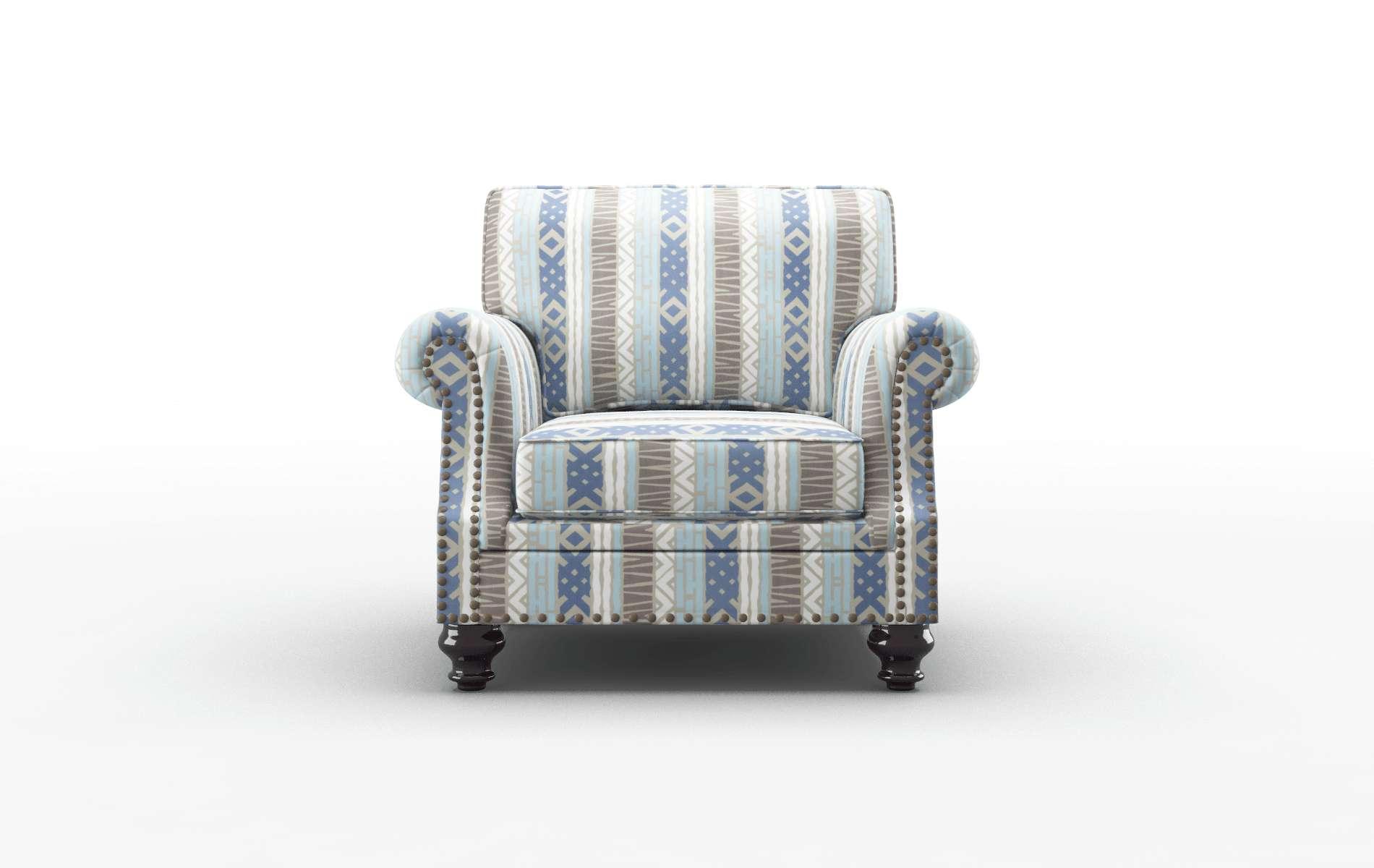 Rotterdam Bodhi Indigo Chair espresso legs 1