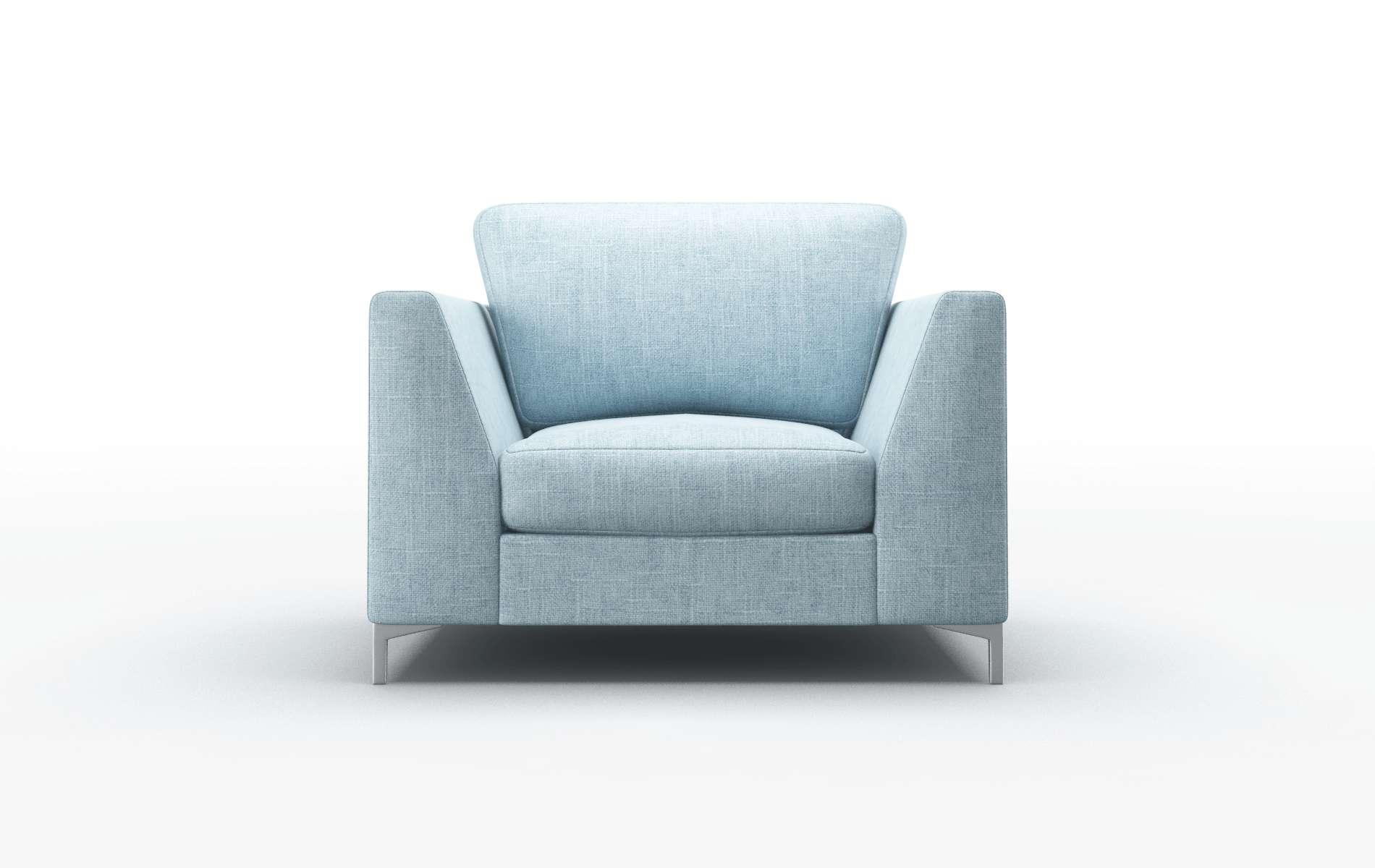 Royal Atlas Turquoise chair metal legs