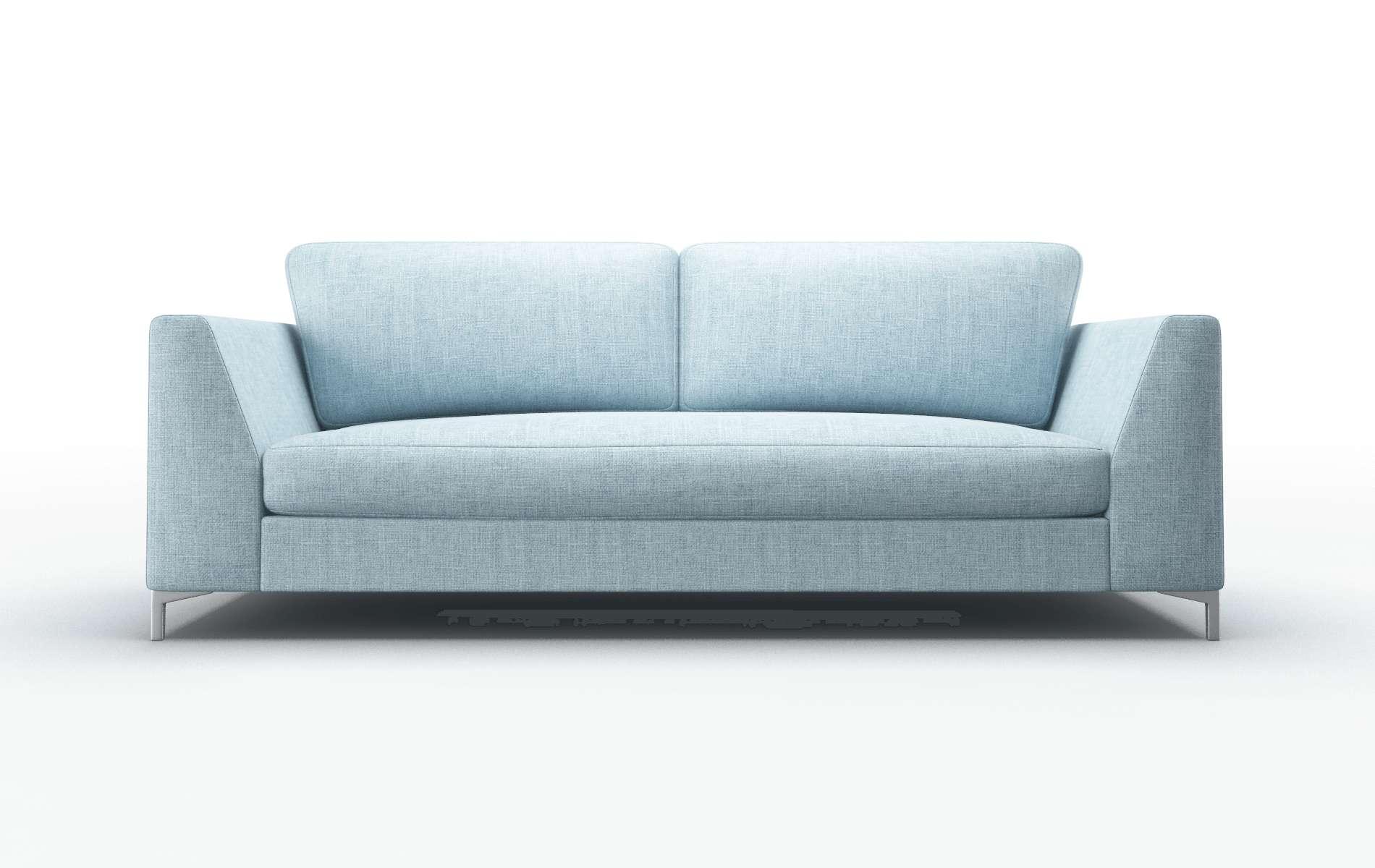 Royal Atlas Turquoise Sofa metal legs