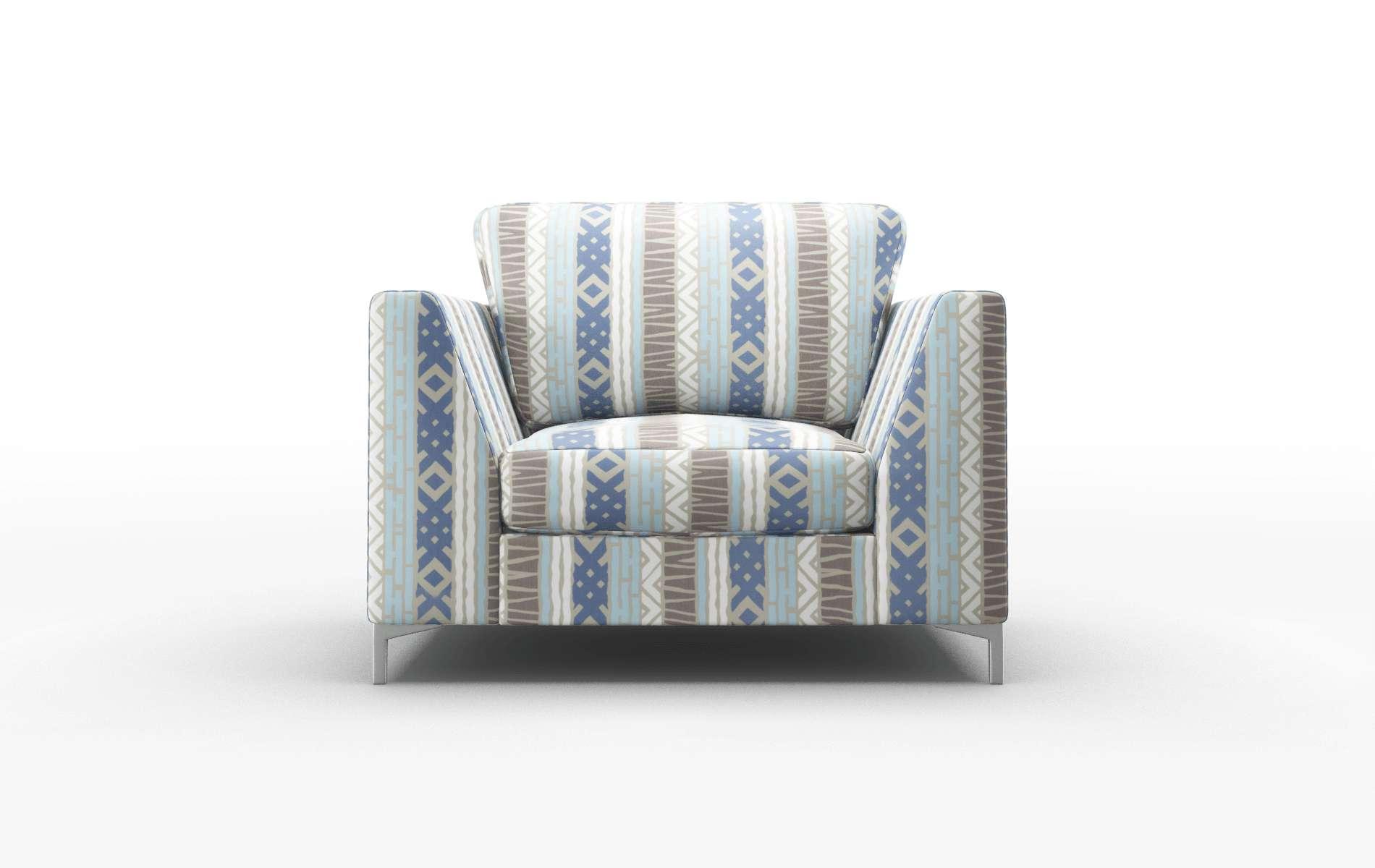 Royal Bodhi Indigo Chair metal legs 1