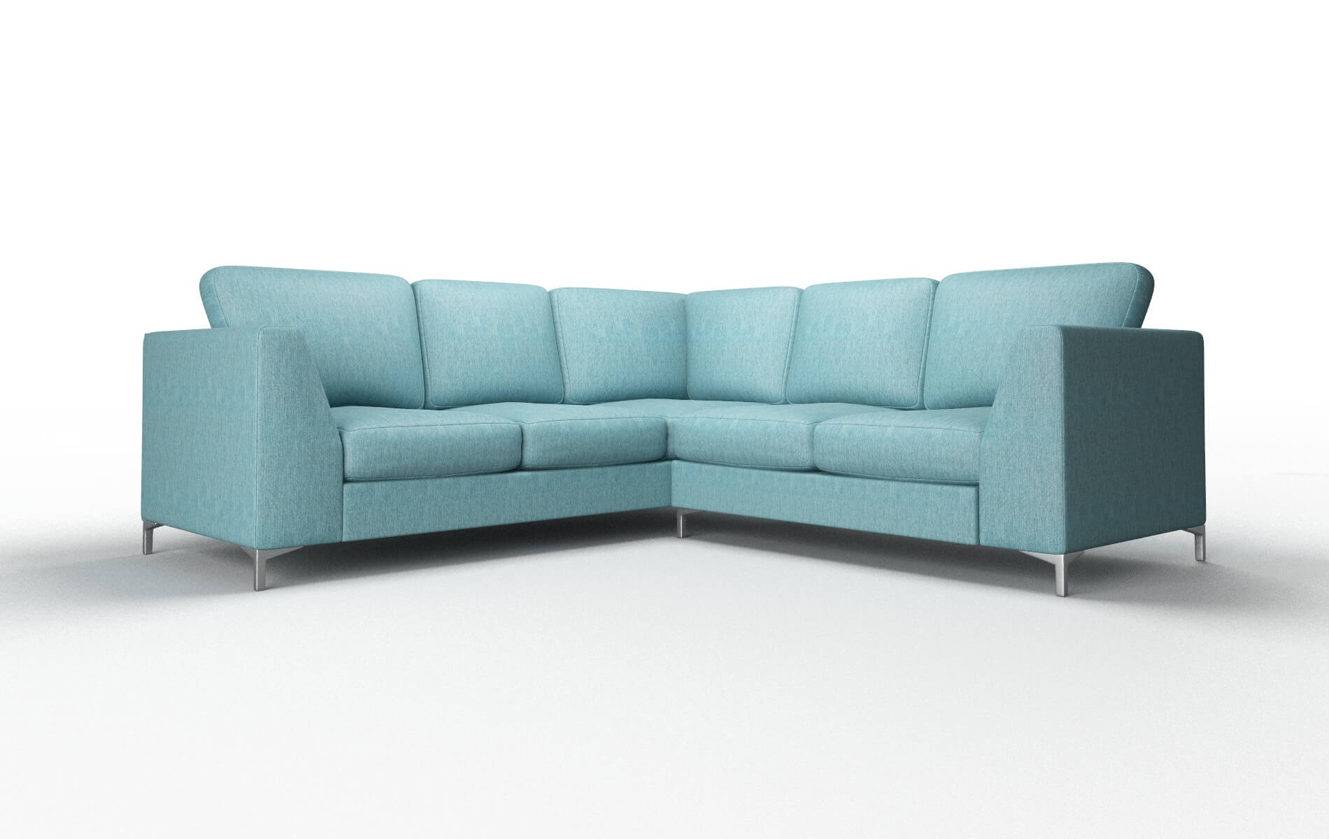 Royal Cosmo Turquoise Sectional metal legs 1