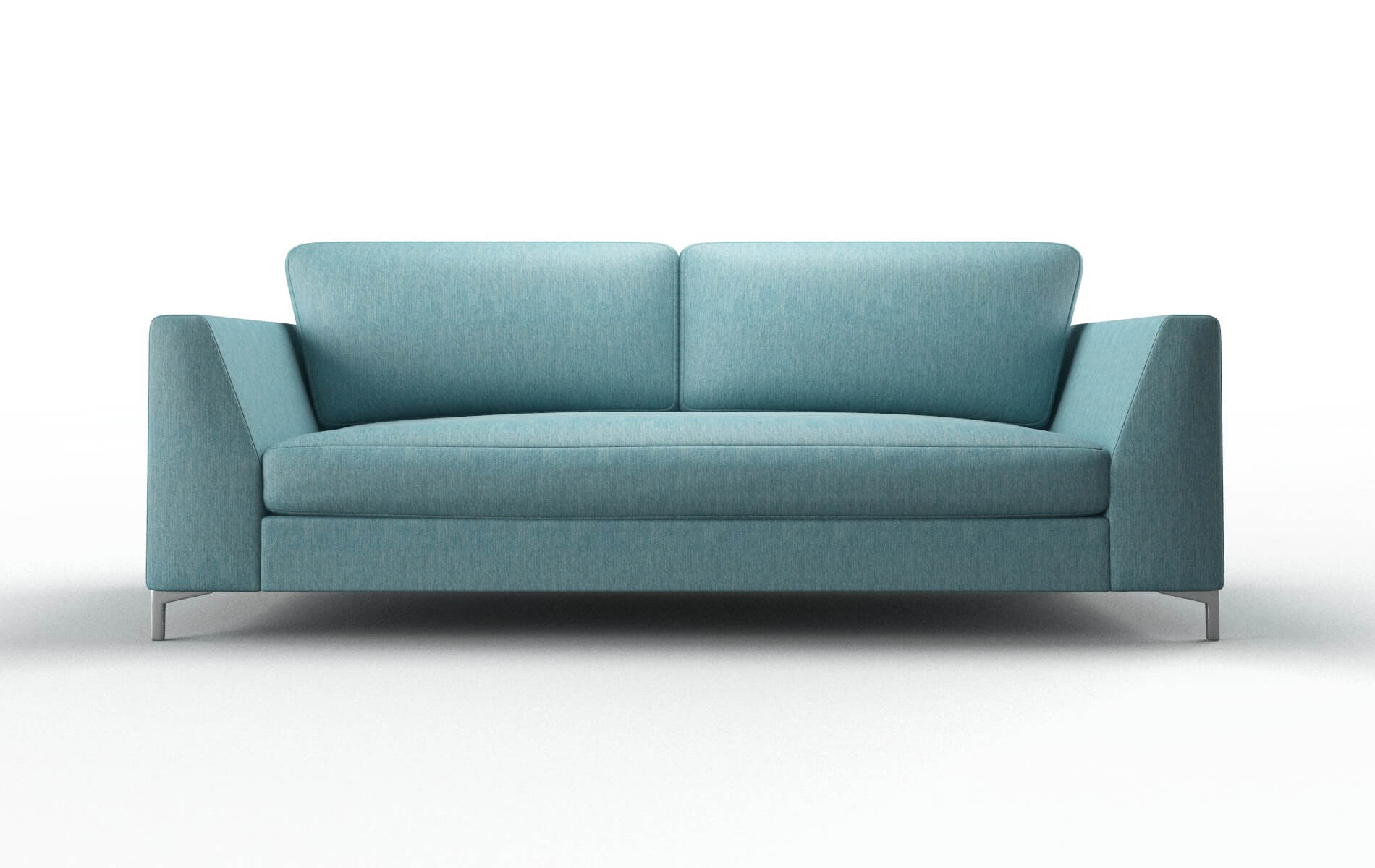 Royal Cosmo Turquoise Sofa metal legs 1