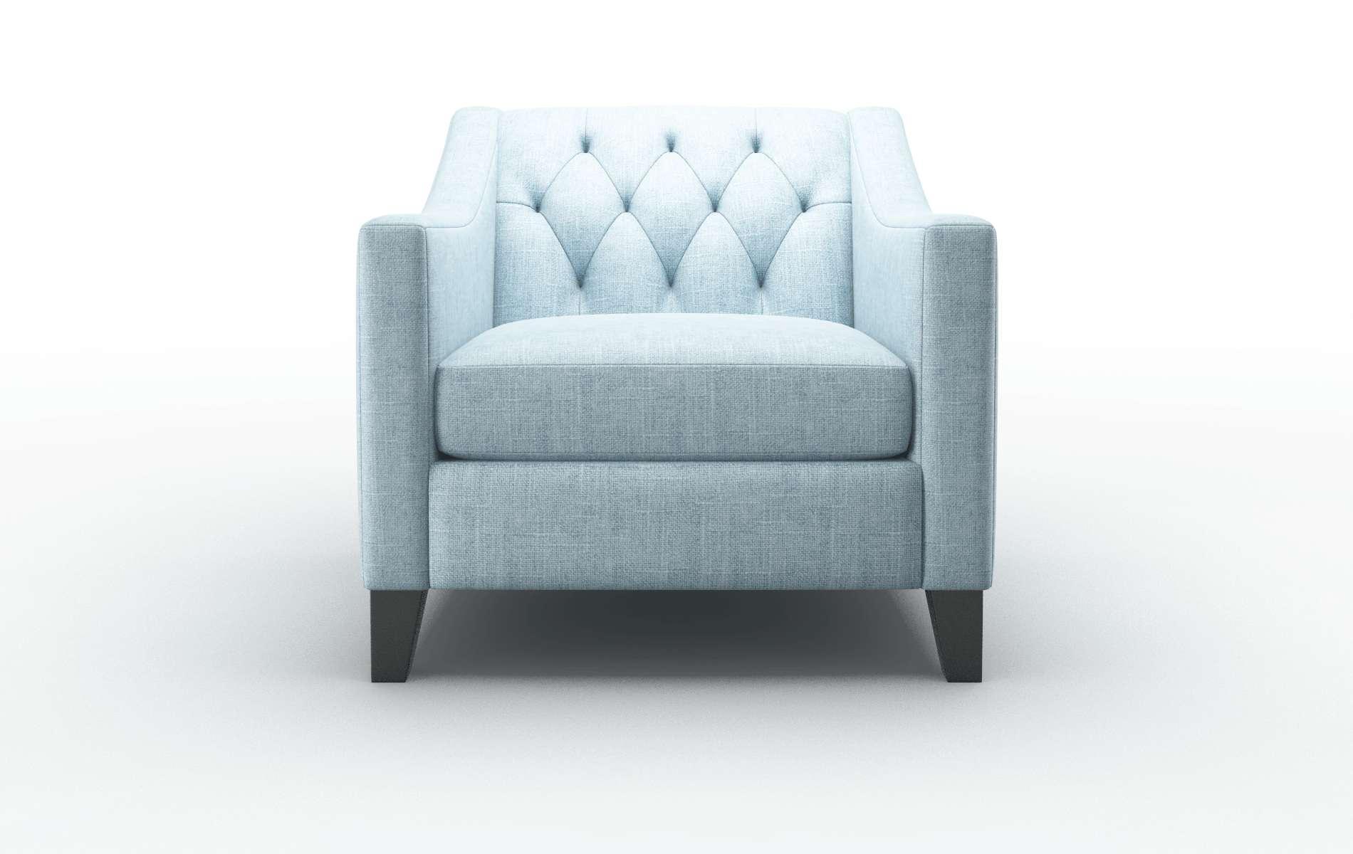 Seville Atlas Turquoise Chair espresso legs 1
