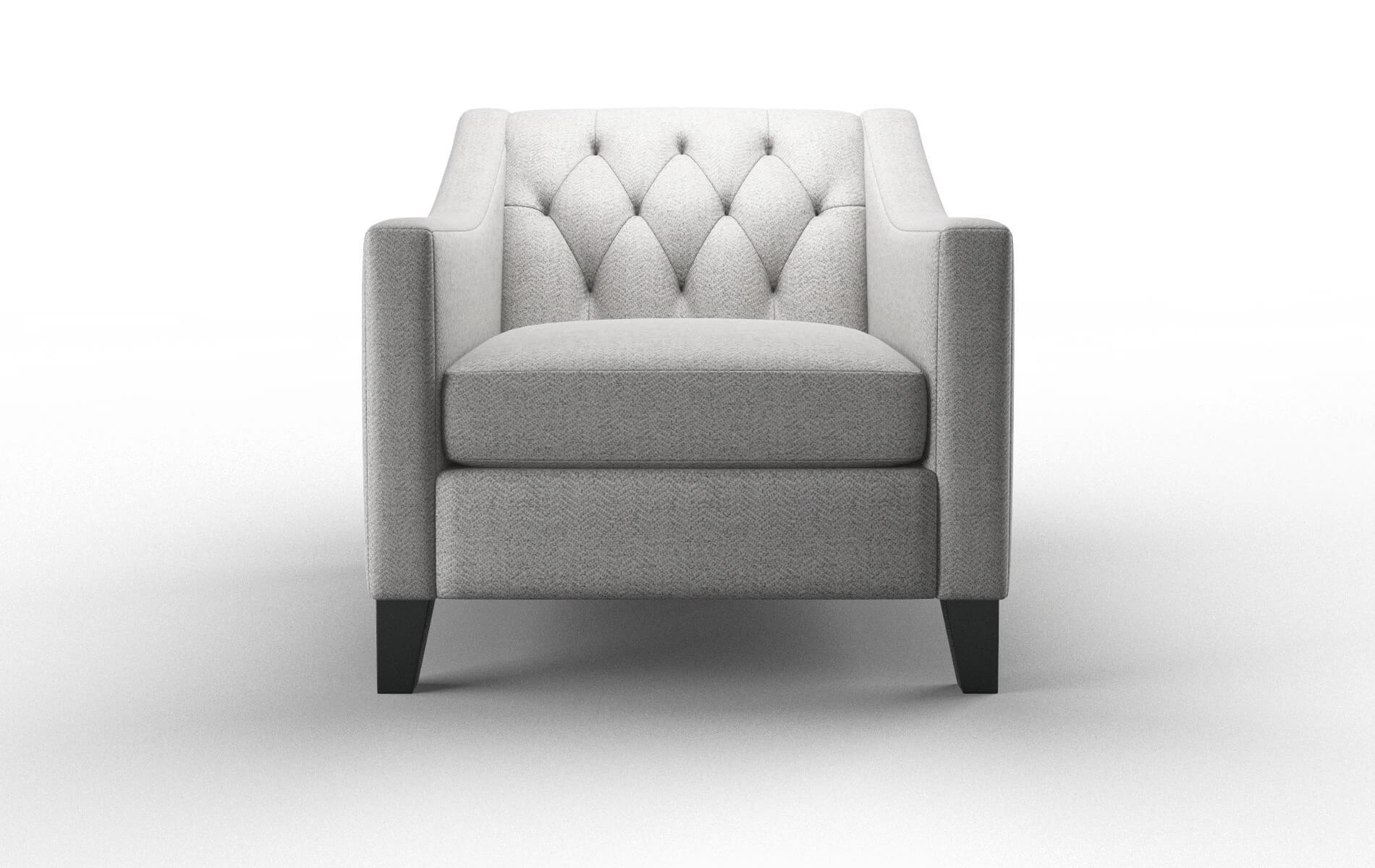 Seville Catalina Silver chair espresso legs