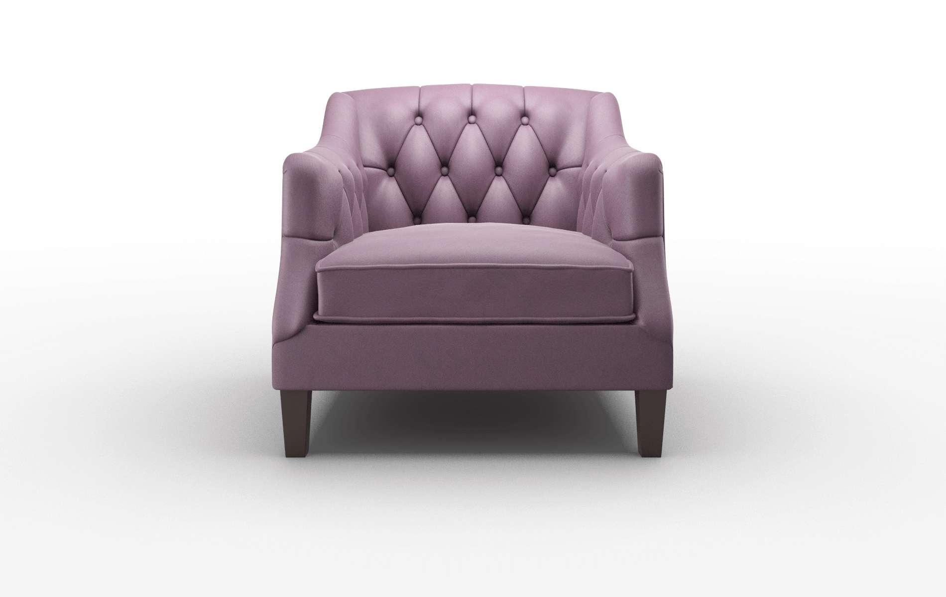 Shiraz Bella Aubergine Chair espresso legs 1