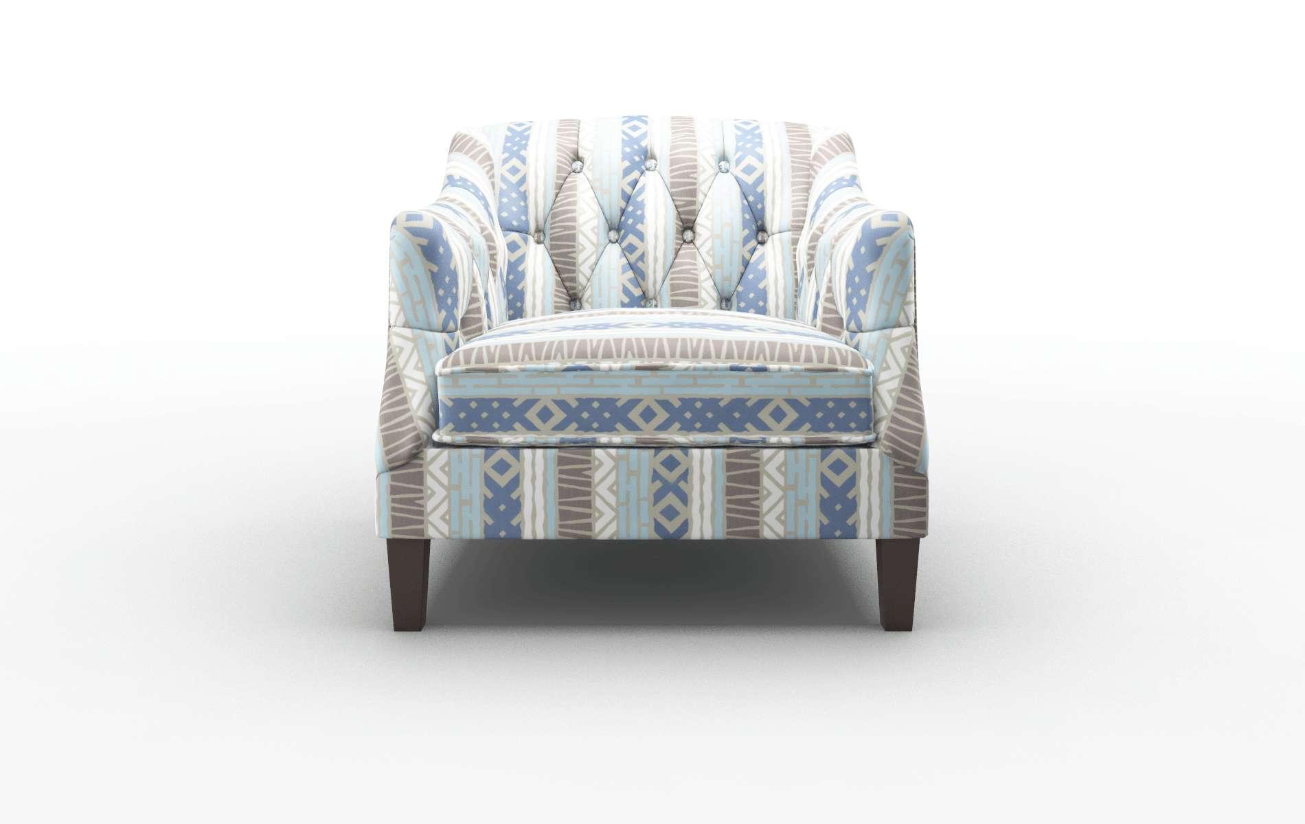 Shiraz Bodhi Indigo Chair espresso legs 1