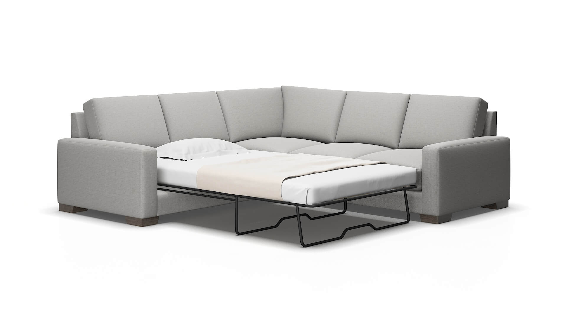 London Parker Silver Sectional Sleeper 2