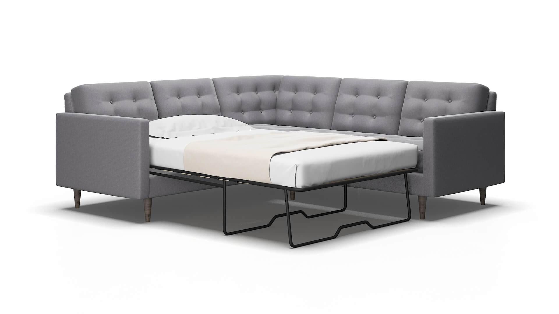 Oslo Parker Ash Sectional Sleeper 2