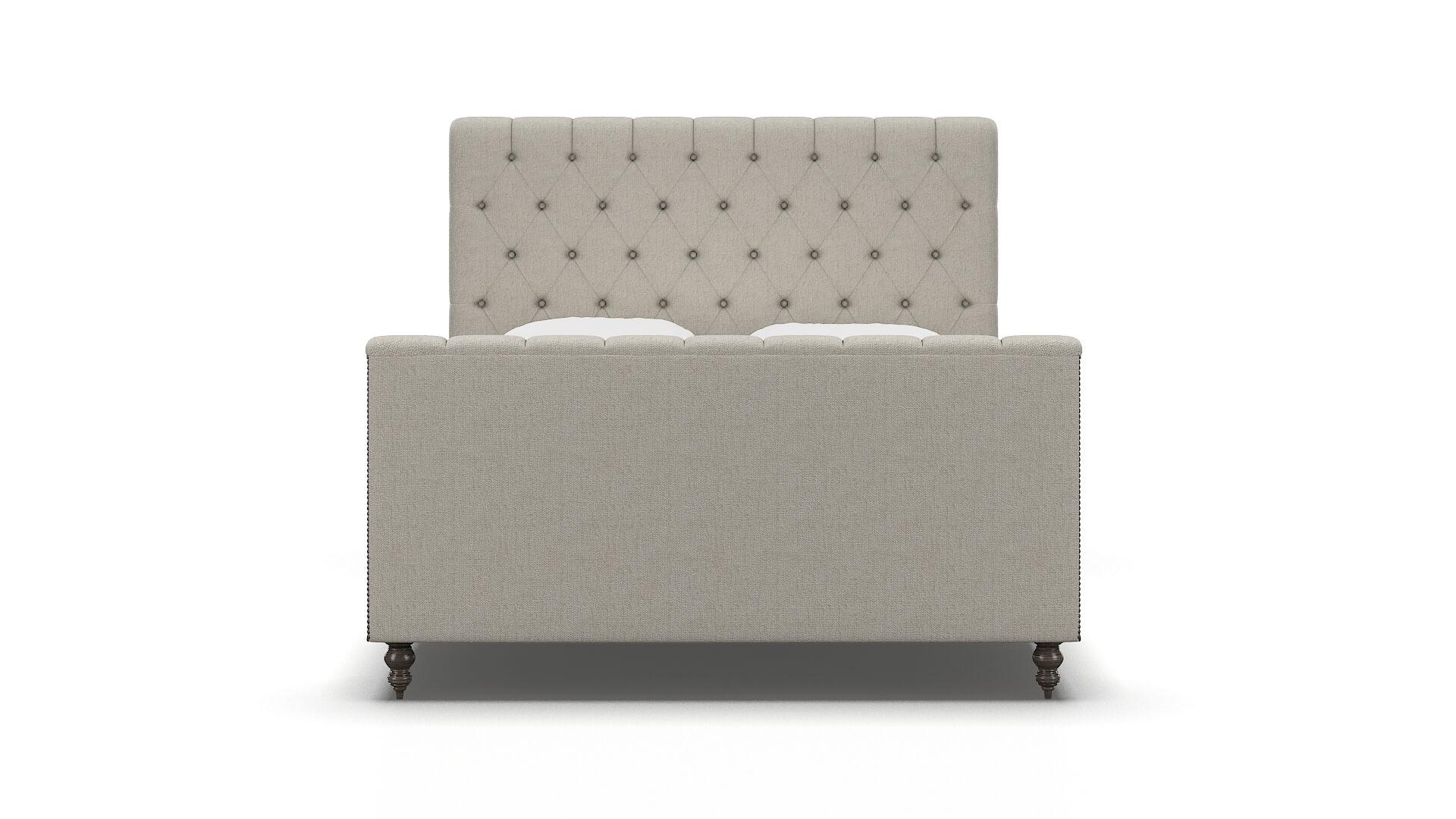 Sophia Sasha Linen chair espresso legs