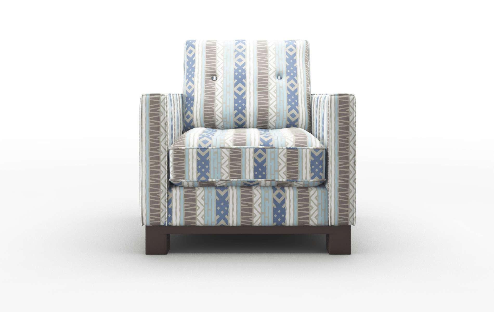Syros Bodhi Indigo Chair espresso legs 1