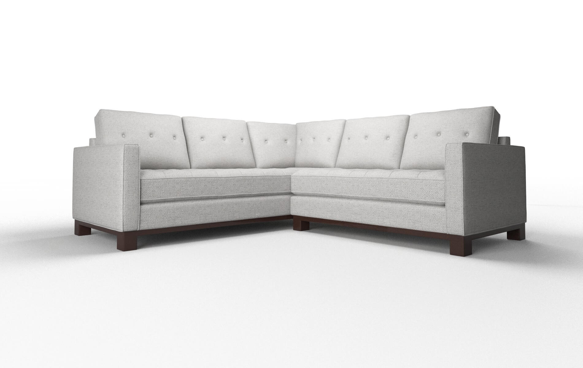 Syros Catalina Silver Sectional espresso legs 1