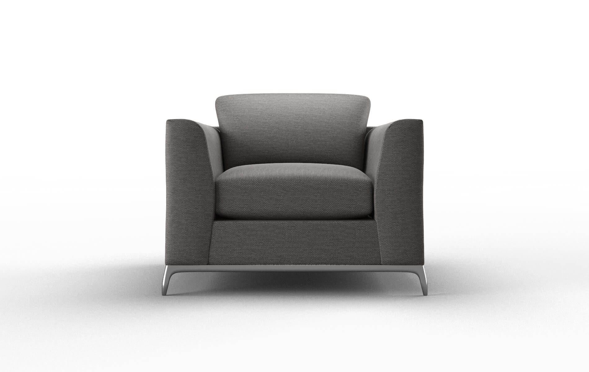Toronto Oscar Charcoal Chair metal legs 1