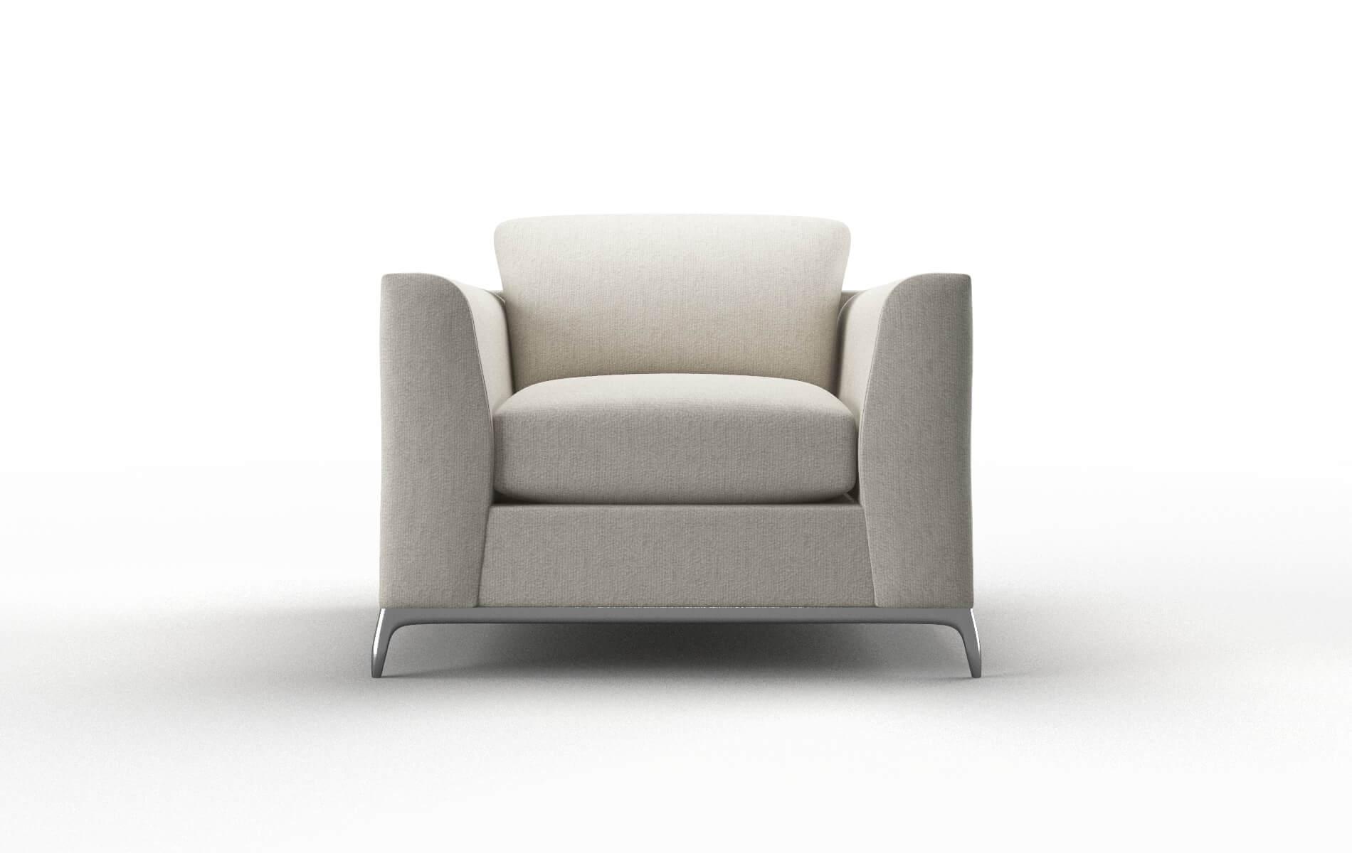 Toronto Sasha Linen chair metal legs