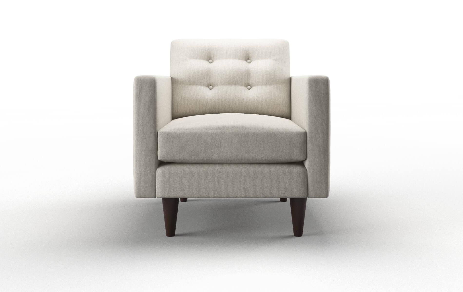 Turin Sasha Linen Chair espresso legs 1