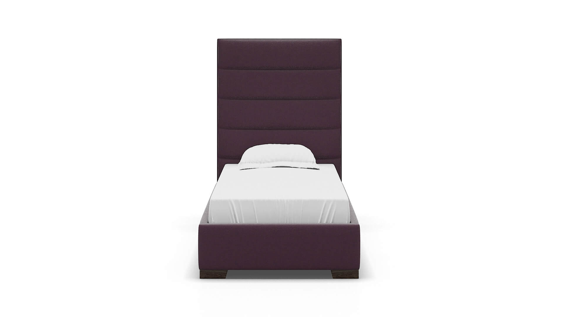 Vida Bella Aubergine chair Twin espresso legs