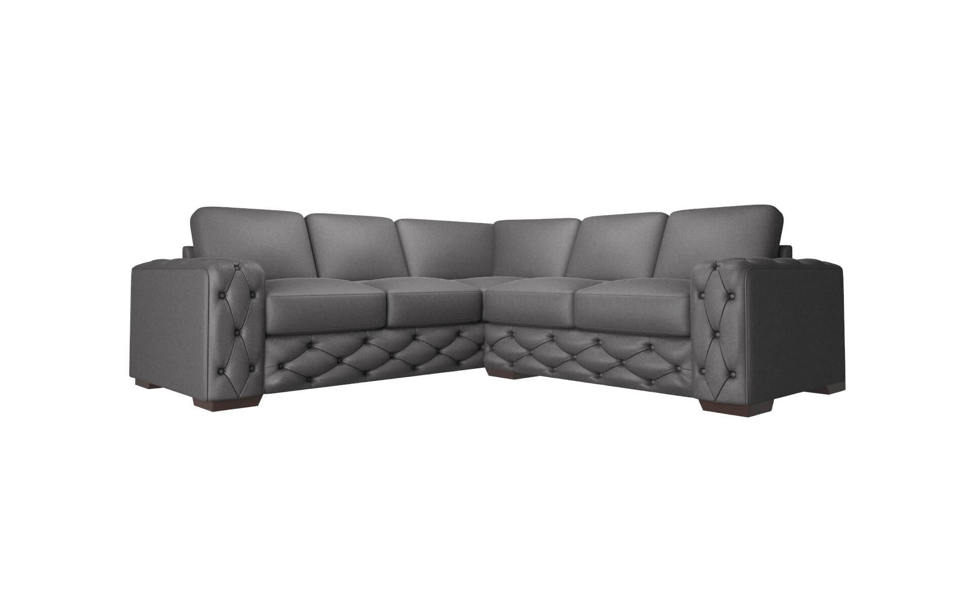 Windsor Catalina Charcoal Sectional espresso legs 1