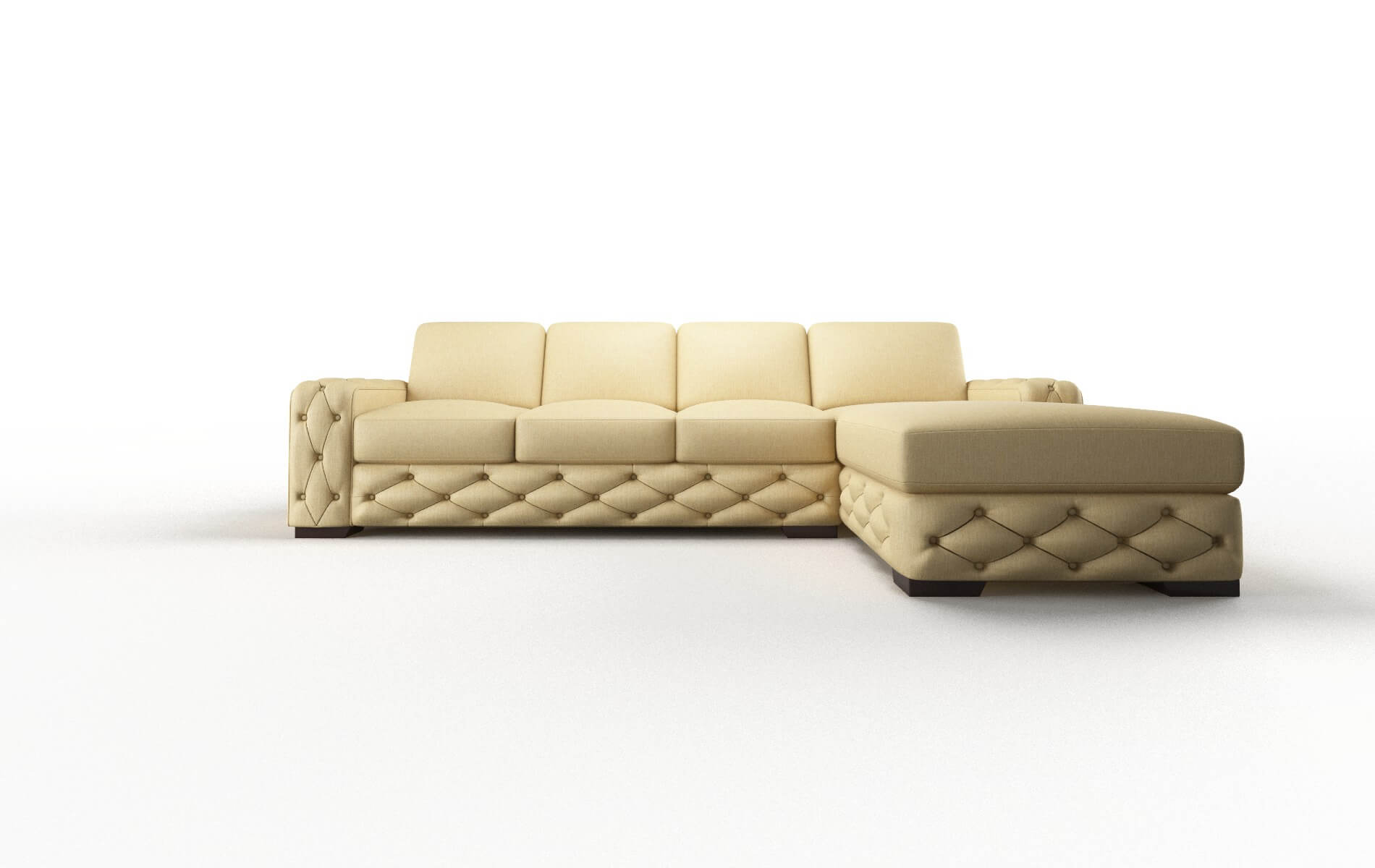 Windsor Malibu Maize Panel espresso legs