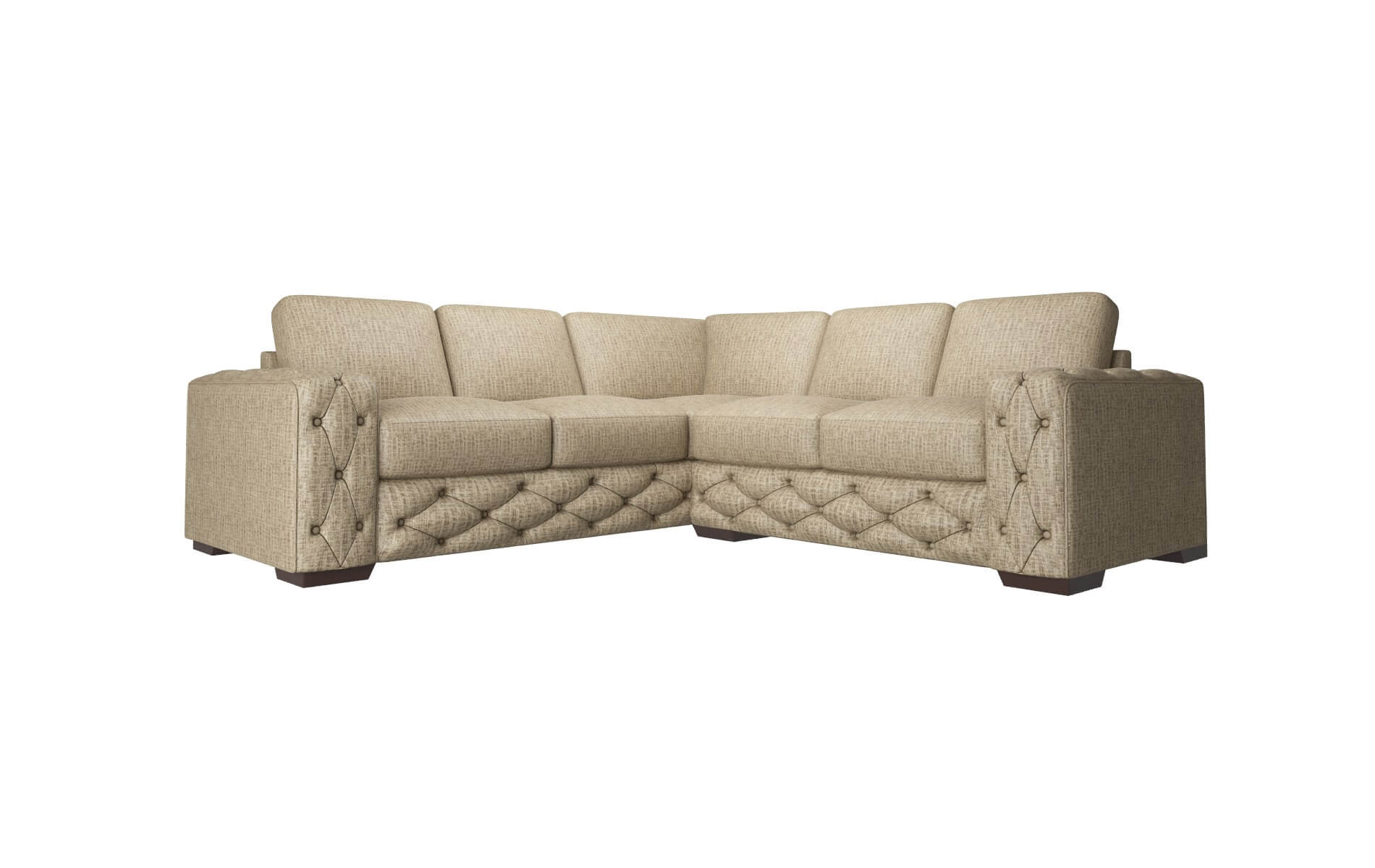 Windsor Marcy Camel Sectional espresso legs