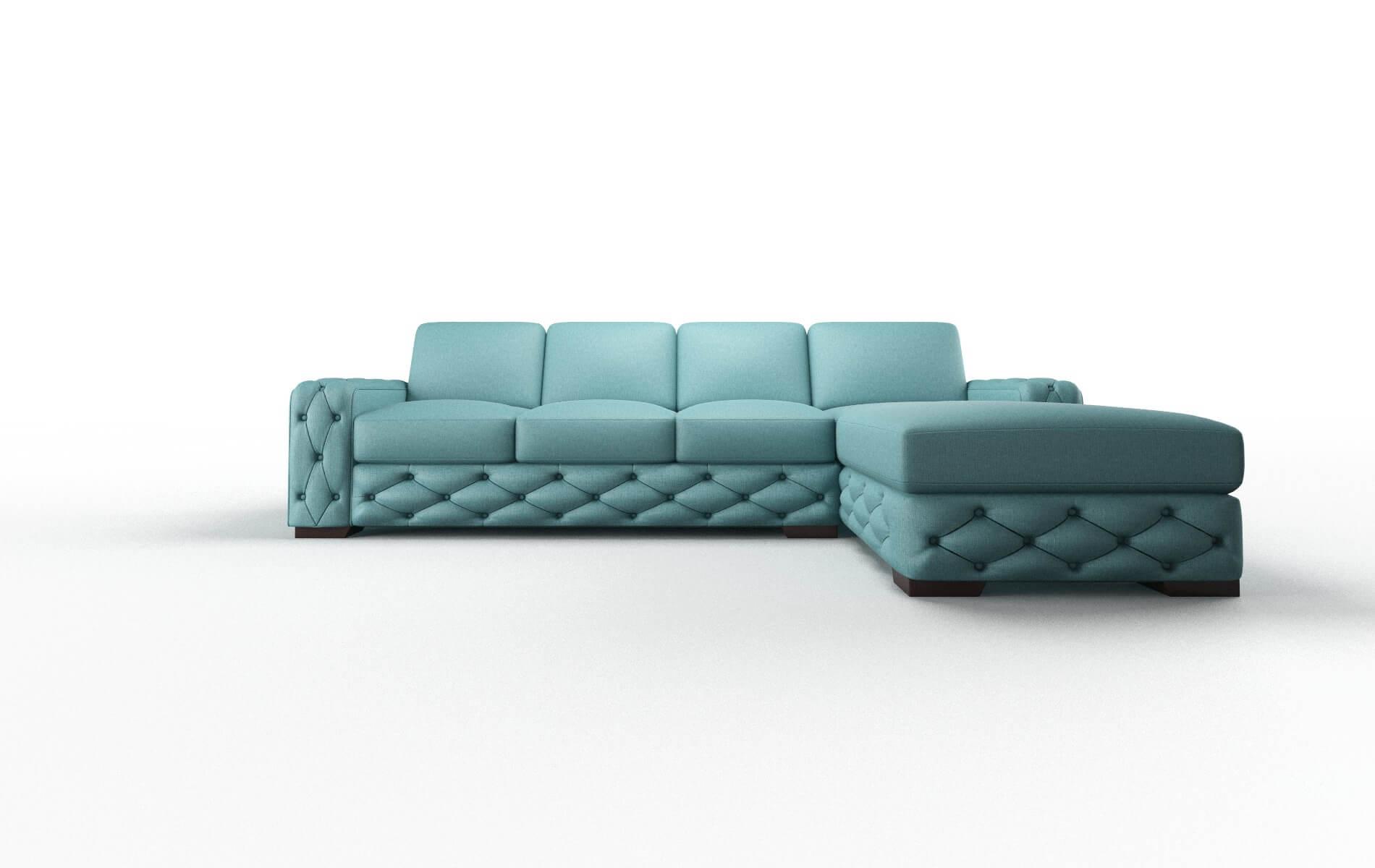 Windsor Parker Turquoise Panel espresso legs 1