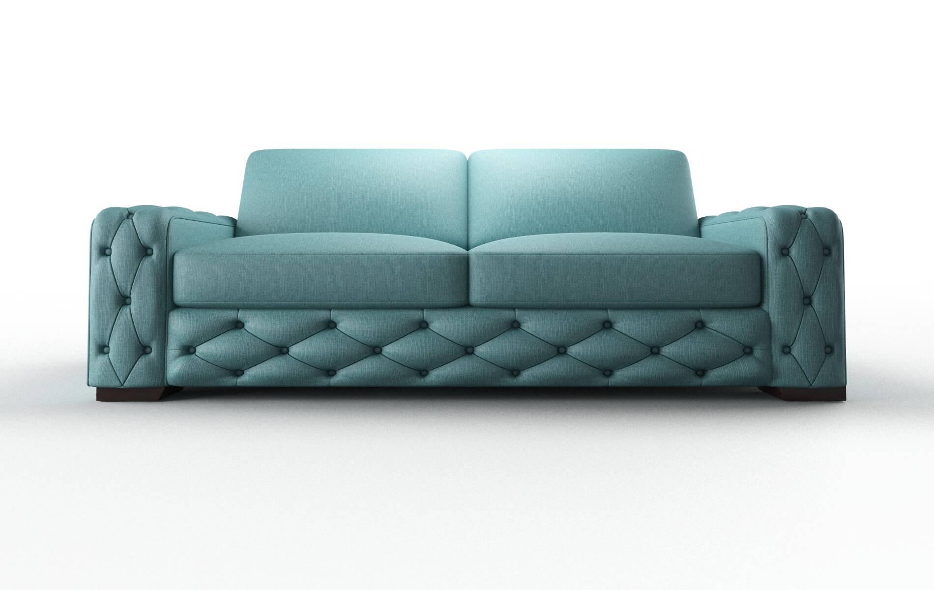 Windsor Parker Turquoise Sofa espresso legs 1