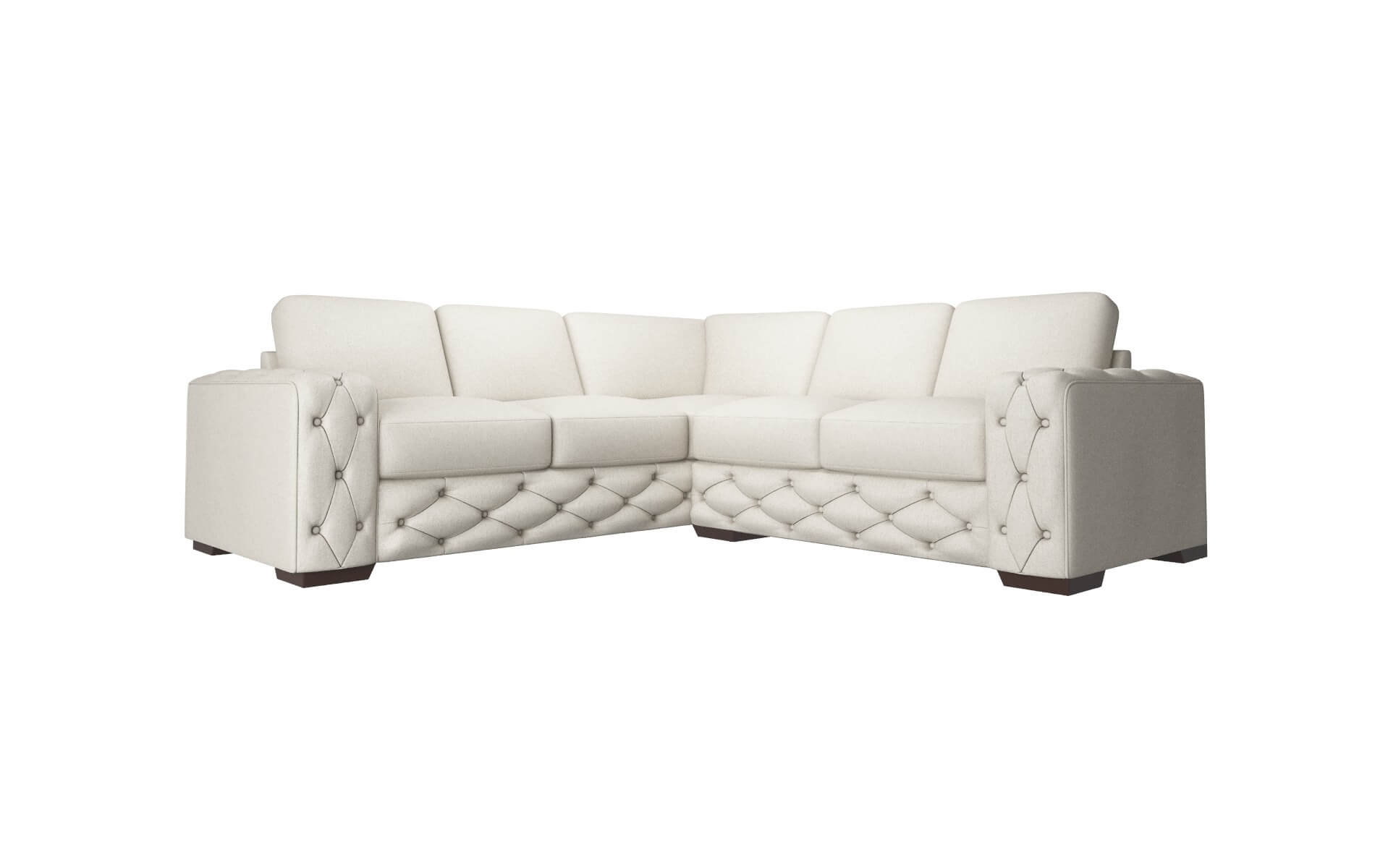 Windsor Sasha Linen Sectional espresso legs 1